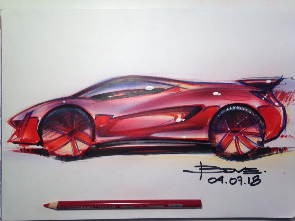 How To Draw A Red Ferrari Sketch Tutorial Lucianobove Com