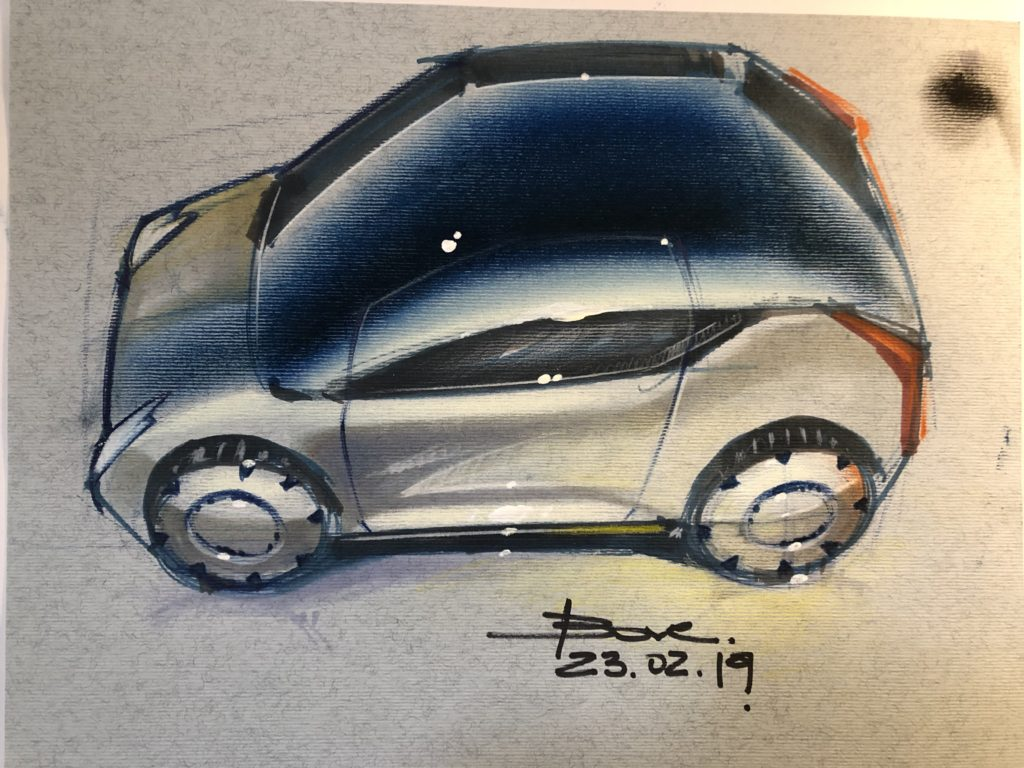 Canson Paper Car Sketch Tutorial By Luciano Bove